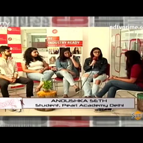 Pearl Academy students on NDTV Prime discussing the scope and future of Advertising