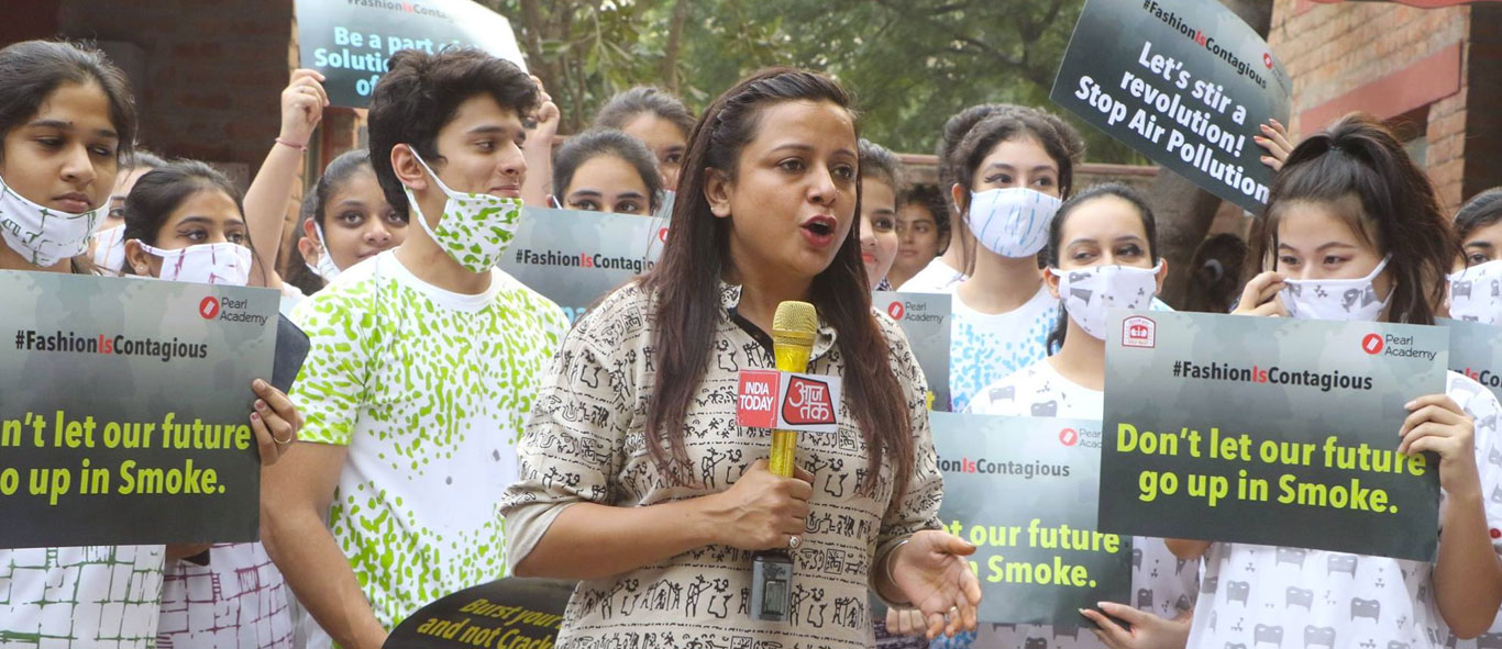 Fashion March by Pearl Academy Students Against Air Pollution   