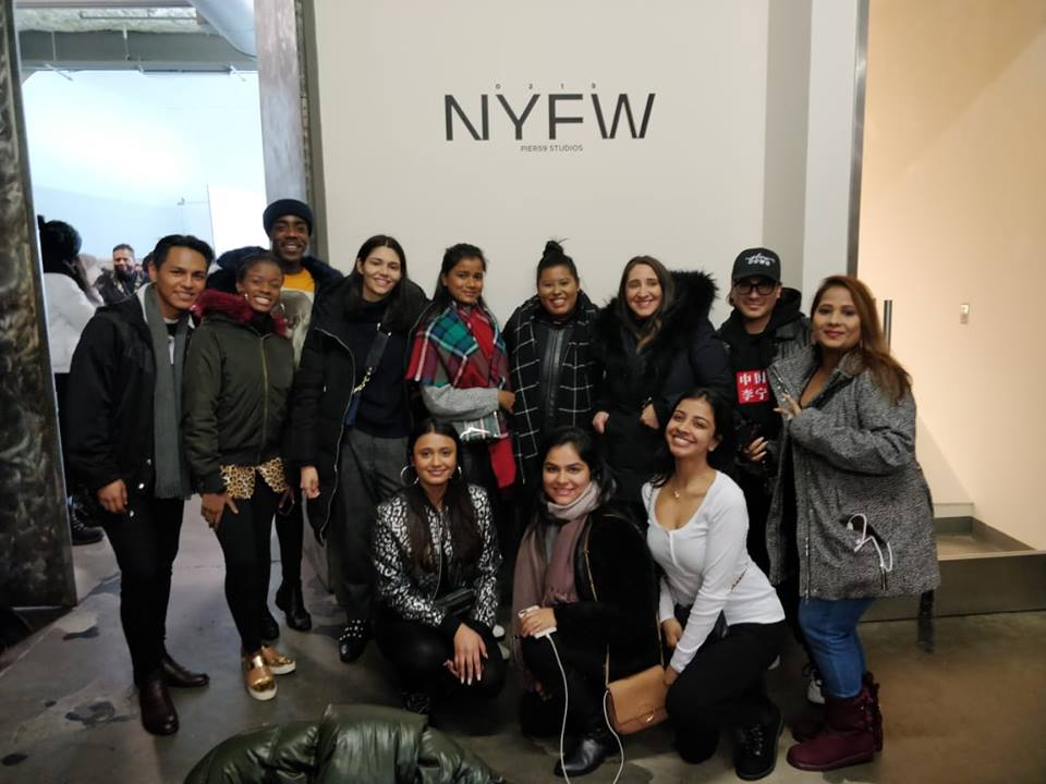 Students worked with emerging designers at New York Fashion Week.
