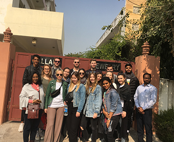 LDT Nagold students from Germany at Jaipur Campus.