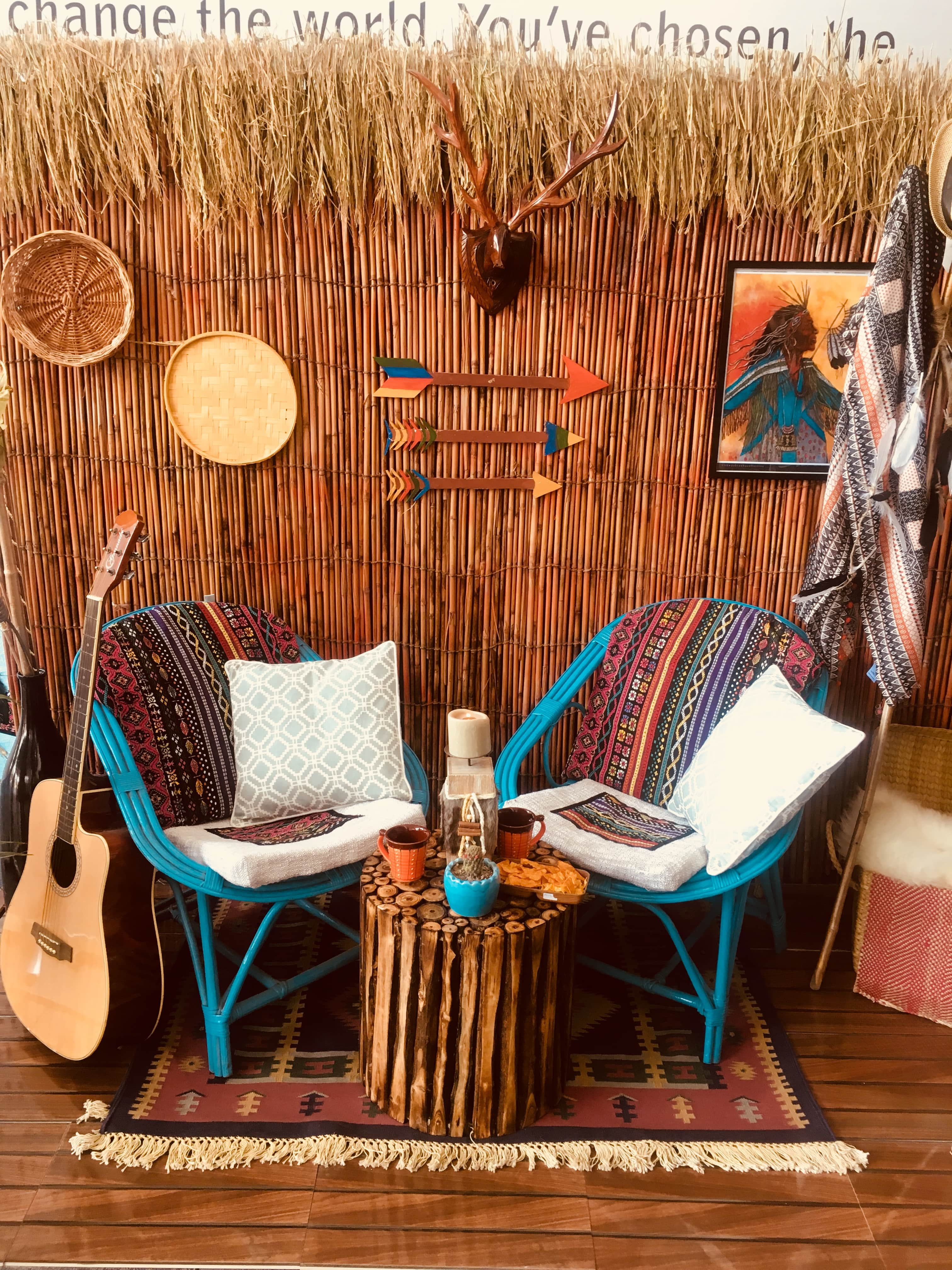 Southwestern Mexicans Inspired Outdoor Porch  Interior Concept