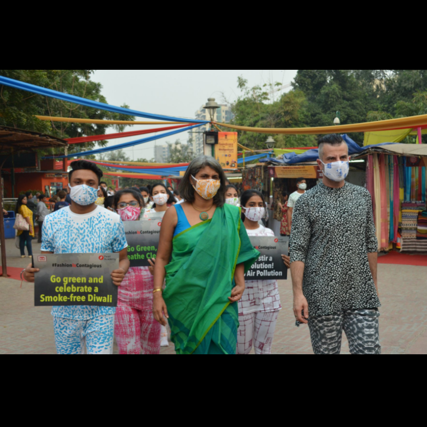 A Fashion March Against Air Pollution by Pearl Academy students - News 18, November 2018