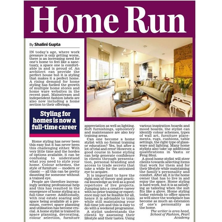 Styling for homes is now a full-time career - Shalini Gupta, October 2018