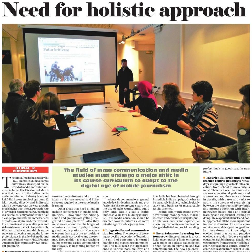 Need for holistic approach - The Statesman, August, 2018